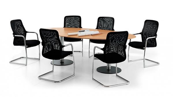 Sedie modell konca e tavolo in laminato stl srl for Sedie ufficio genova