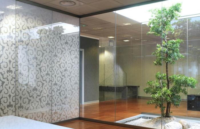 spesso pareti divisorie di ultima generazione in vetro alluminio e legno  BG98