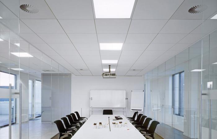 Controsoffitto ufficio controsoffitto pannelli - Controsoffitto led ...