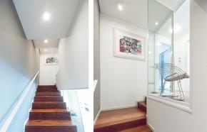 scale legno - inserto vetro scala
